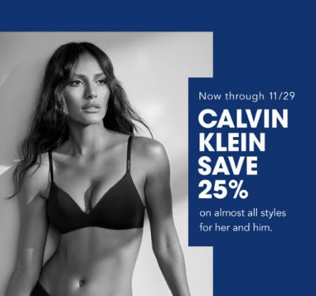 25% Off Calvin Klein from Bloomingdale's