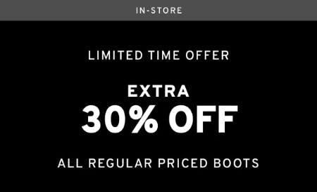 Extra 30% Off Boots
