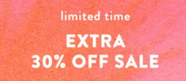 Extra 30% Off Sale from Anthropologie