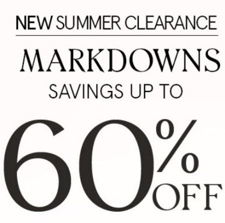 New Summer Clearance up to 60% Off