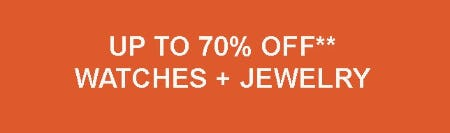 Up to 70% Off Watches & Jewelry from Fossil