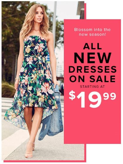 All New Dresses on Sale Starting at $19.99 from New York & Company