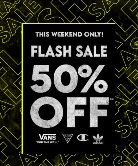 Flash Sale: 50% Off Vans, Champion & Adidas from PacSun