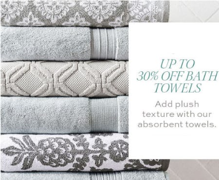 Up to 30% Off Bath Towels from Pottery Barn