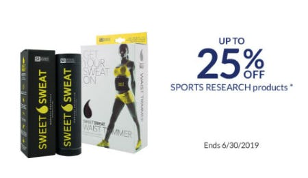 Up to 25% Off Sports Research Products