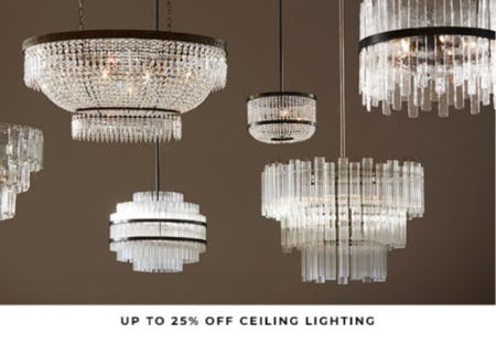 Up to 25% Off Ceiling Lighting from Pottery Barn