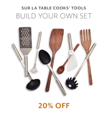 20% Off Cooks' Tools from Sur La Table