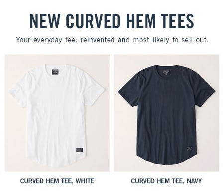 New Curved Hem Tees from Abercrombie & Fitch
