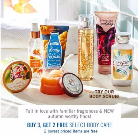 Buy 3, Get 2 Free Select Body Care
