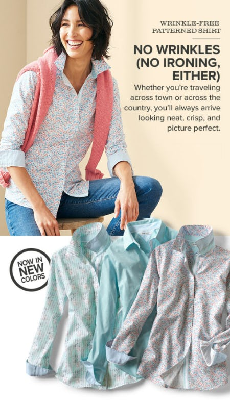 Wrinkle Free Patterned Shirt from Orvis