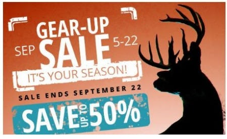 Gear-Up Sale: Up to 50% Off from Cabela's