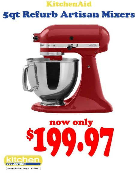 Refurbished KitchenAid Mixers from Kitchen Collection