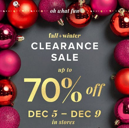 Up to 70% Off Clearance Sale from Evereve