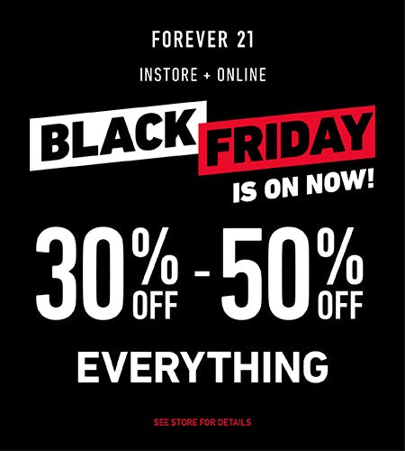 BLACK FRIDAY 30% OFF EVERYTHING! from Forever 21