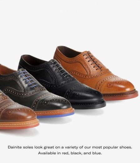 Check Out Dainite on the Strandmok from Allen Edmonds