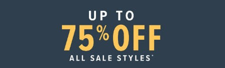 Up to 75% Off All Sale Styles