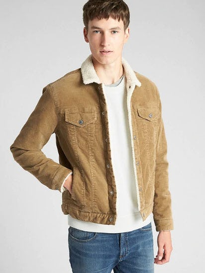 Sherpa-Lined Icon Cord Jacket from Gap