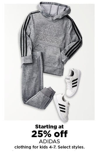 Starting at 25% Off Adidas from Kohl's