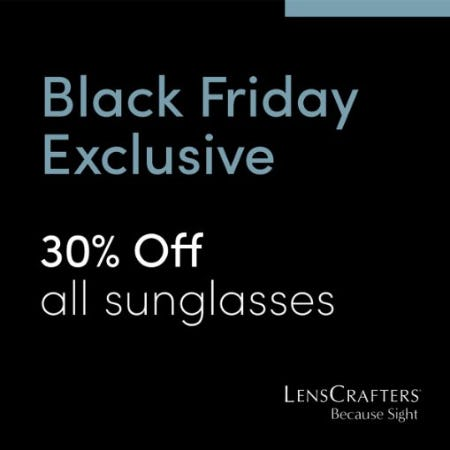 Black Friday Exclusive, 30% Off All Sunglasses