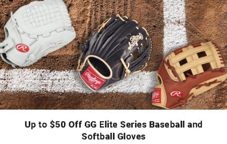 Up to $50 Off GG Elite Series Baseball and Softball Gloves