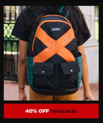 40% Off Backpacks