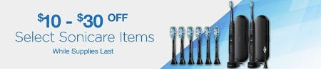 $10-$30 Off on Select Sonicare Items