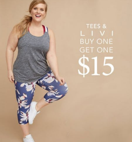 Tees & LIVI Buy One, Get One $15 from Lane Bryant