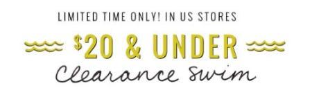 Clearance Swim $20 & Under