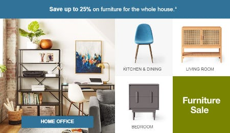 Up to 25% Off Furniture Sale from Target
