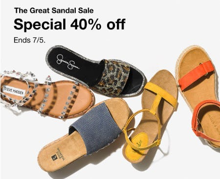The Great Sandal Sale: 40% Off from macy's