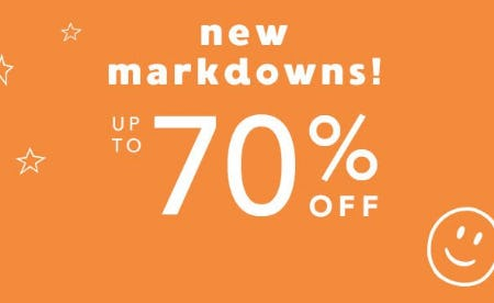 New Markdowns up to 70% Off from Gymboree