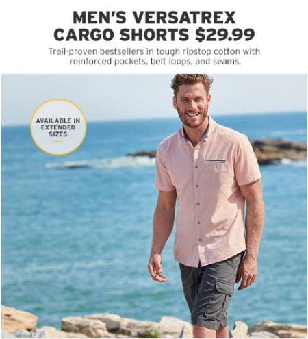 Men's Versatrex Cargo Shorts $29.99 from Eddie Bauer
