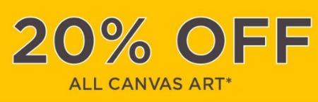 20% Off All Canvas Art from Kirkland's