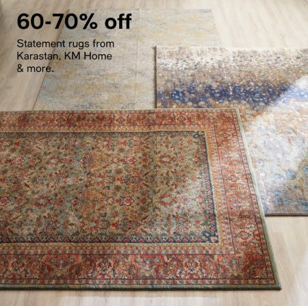 60-75% Off Statement Rugs from Karastan, KM Home & More from macy's