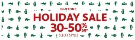 Holiday Sale: 30–50% Off from Lacoste