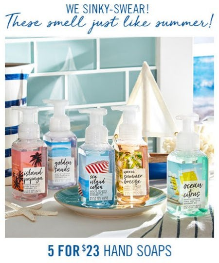 5 for $23 Hand Soaps from Bath & Body Works