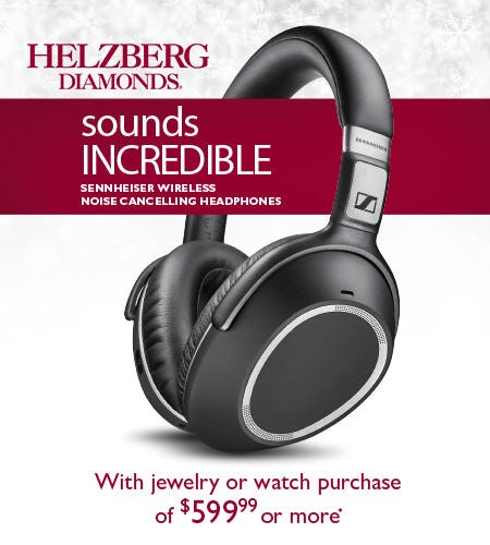 FREE! Noise Cancelling Headphones  With Purchase of $599.99 or more*