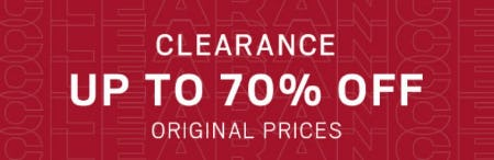 Clearance up to 70% Off from Men's Wearhouse