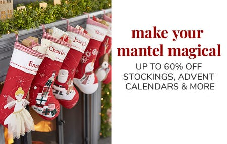 Up to 60% Off Stockings, Advent Calendars & More from Pottery Barn Kids