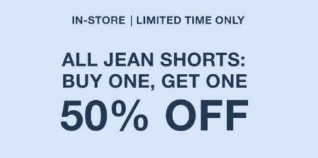 BOGO 50% Off All Jean Shorts from Garage