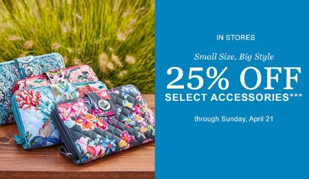 25% Off Select Accessories from Vera Bradley