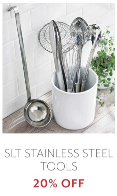 SLT Stainless Steel Tools 20% Off from Sur La Table