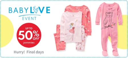 Up to 50% Off Jammies from Carter's