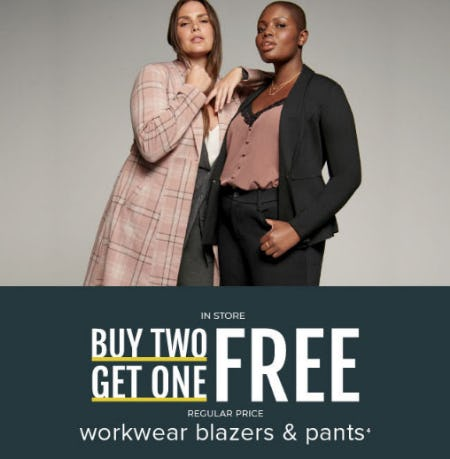 B2G1 Free Workwear Blazers & Pants from Torrid