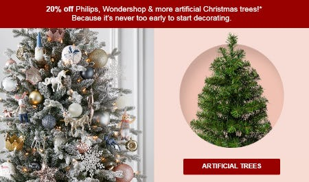 20% Off Select Artificial Trees from Target