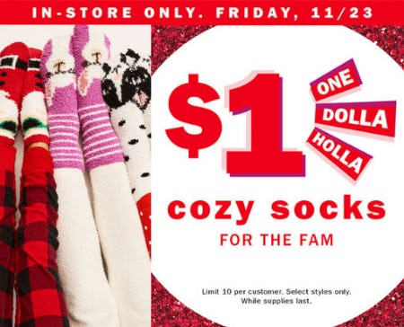 $1 Cozy Socks for the Family from Old Navy