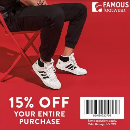 Famous Footwear Memorial Day Weekend Offer from Famous Footwear