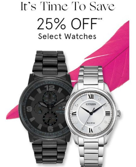 25% Off Select Watches from Zales