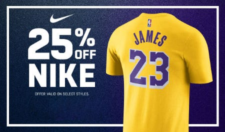 25% Off Nike from Lids