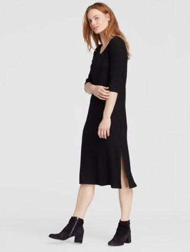 Tencel Stretch Rib Dress from Eileen Fisher